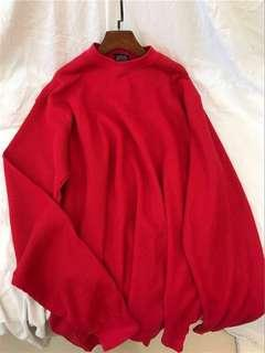 red oversized ulzzang sweater