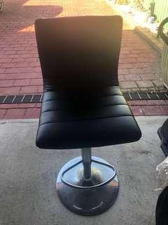 Leather stools x2