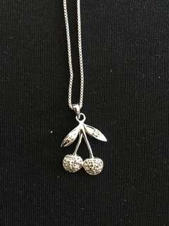 Sterling Silver Cherry Necklace