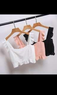 🚚 Frilly crop top