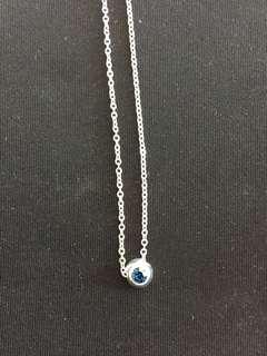 Sterling Silver December Birthstone Necklace
