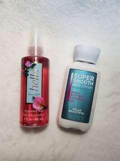 Bath and Body Works Hello Beautiful Fragrance and Lotion Set