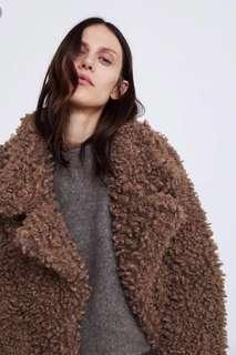 Zara faux fur teddy coat BNWT