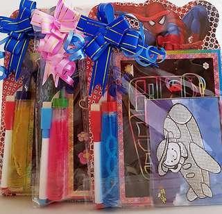 Goodie bag, goody bag, whiteboard, scratch art, bubbles