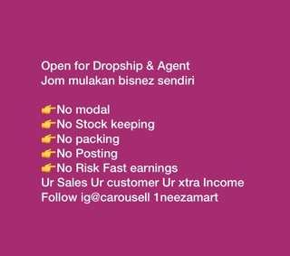 Open for Dropship & agent