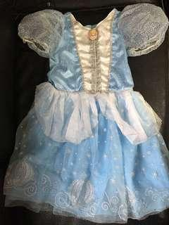 Disney 公主裙  preloaded Cinderella dress (age 4-6)
