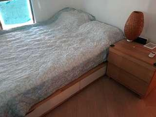 Double bed with Sealy mattress