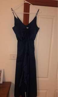 SHEIKE ROYAL BLUE COCKTAIL DRESS LIKE NEW