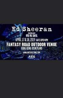 Ed Sheeran Tickets x 2