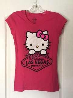 Pink hello kitty crew neck shirt. Small. New.