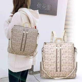 Zipped Backpack-SlingBag