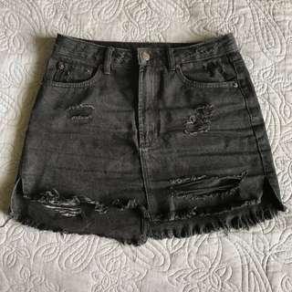 Size 8 Glassons Black denim skirt