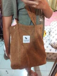 Brown Totebag Korean Cordoray