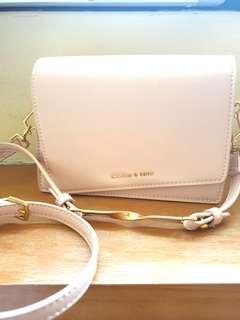 🚚 Charles & Keith sling bag (pink, small)