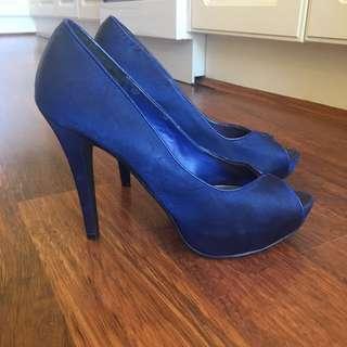 Navy Blue High Heel Stilettos