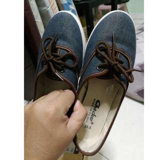 Northstar blue denim checkers sneakers