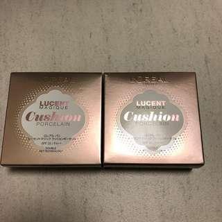 全新 L'Oréal Lucent Magique 陶瓷光感氣墊粉底