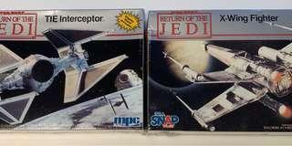 Star Wars - Return of the Jedi : TIE Interceptor & X-Wing Fighter