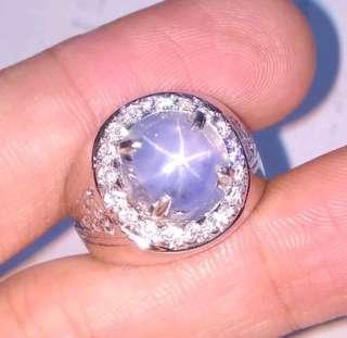Natural Blue Star Sapphire Unheated Size 8.