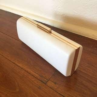 White and Gold Colette Clutch