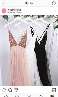 Honey prom dress in black