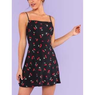 Cherry Print Cami Dress