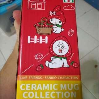 SANRIO x Line Friends Characters Ceramic Mug