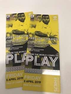 Hong Kong Rugby Sevens 4/9 Friday tickets x2