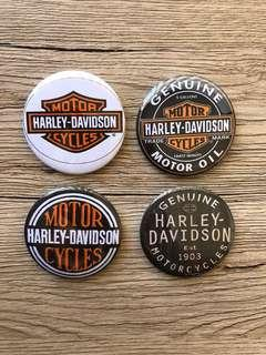 Harley Davidson Badges (4 Pack) 58mm