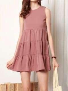 [BNWT] Anticlockwise Tiered Babydoll Dress in Mauve