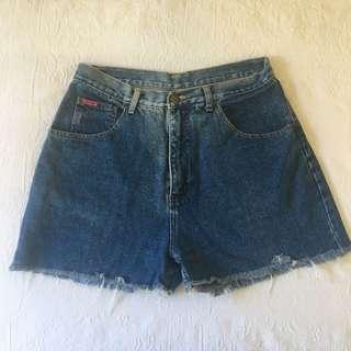'Blue Ridge' Dark Denim High Waist Shorts