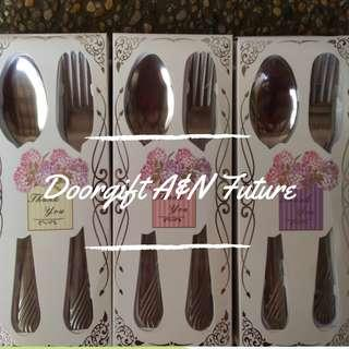 Doorgift Spoon & Fork Simple Design