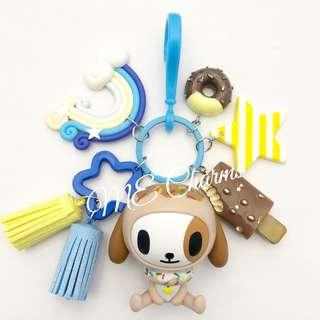 Tokidoki Donutella And Her Sweet Friends Series 1 Donutino Bag Charms / Fobs