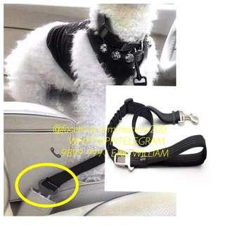 Universal PETS Car Seat Leash with Safety Belt Buckle / Toyota - Nissan Accessories >>READY STOCKS!!