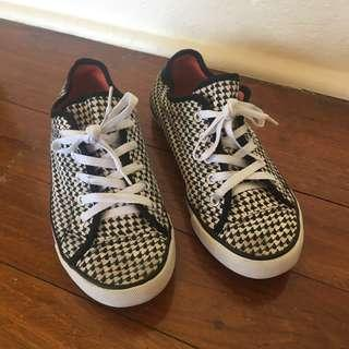 Checkered Canvas Shoes