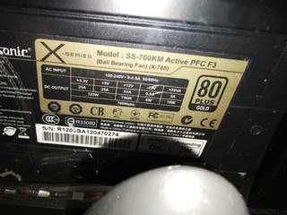 Seasonic X Series 760w Gold Plus 80 Certified Power Supply