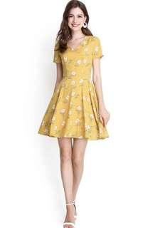 Lilypirates Exuberant By Nature Dress In Yellow Florals