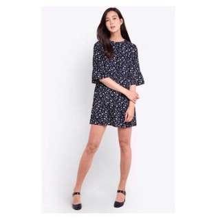 Zalora floral sleeve dress