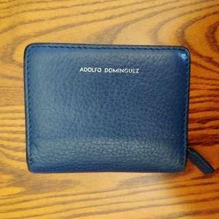 Adolfo Dominguez Small Purse in Dark Blue