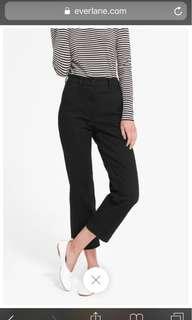 Everlane Straight Leg Crop Black Pants