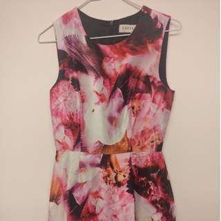 Keepsake The Label Floral Pink Dress SIZE S