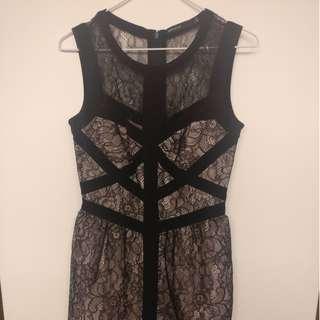 Karen Millen Black Lace Mini Dress SIZE 8