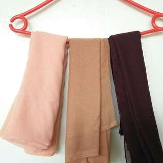 Hijab Chiffon Paris 10rb 3pcs All colours