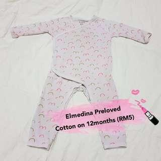 Cotton On Sleepsuits (12Months)