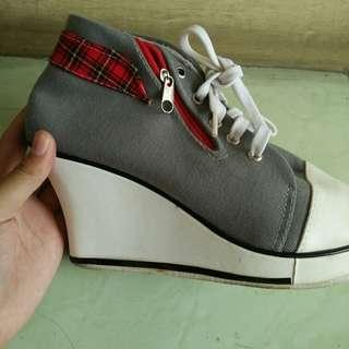 Wedges Tartan sneakers grey size 39