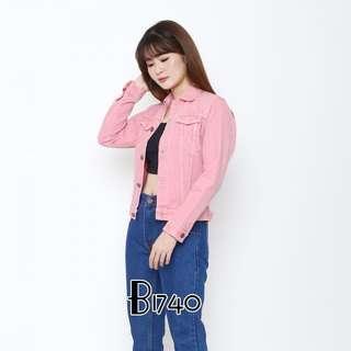Jaket Jeans Wanita Pink