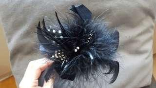 Bebe flower headband black or beige