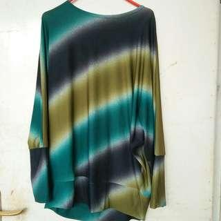 Batwing abstrak green H&M