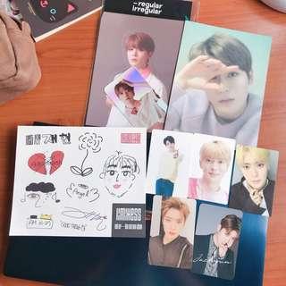 nct nct127 jaehyun photocards postcards sticker