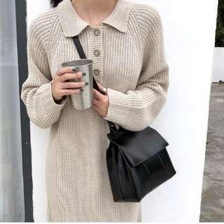 韓版 現貨+預購 (氣質黑) 復古時尚氣質PU翻蓋單肩包 百搭休閒斜揹包